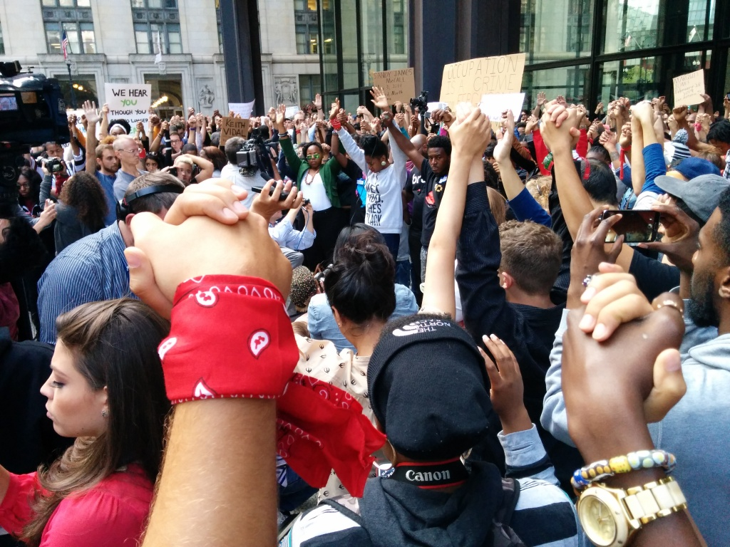 Chicago's installment of the National Moment of Silence, August 2014. (Photo: Kelly Hayes)