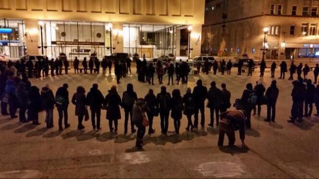 Protestors recite Assata's